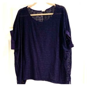 Anthropologie lacy blouse